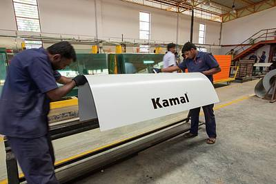 The Kamal Factory In Bangalore Art Print by Ashley Cooper