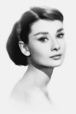 Audrey Hepburn Drawing - The Look by Steve K