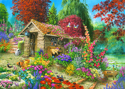 Garden Shed Painting - The Garden Shet by John Francis