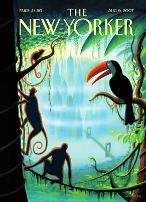 2007 Painting - New Yorker August 6th, 2007 by Eric Drooker