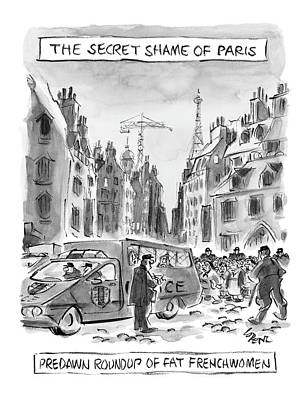 Police Van Drawing - The Secret Shame Of Paris by Lee Lorenz