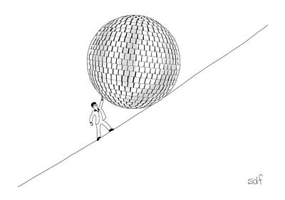 Disco Drawing - New Yorker August 22nd, 2016 by Seth Fleishman
