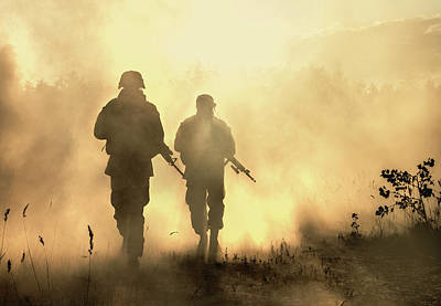 Photograph - U.s. Marines In Action On A Smoke by Oleg Zabielin