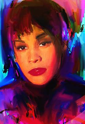 Whitney Houston Art Print