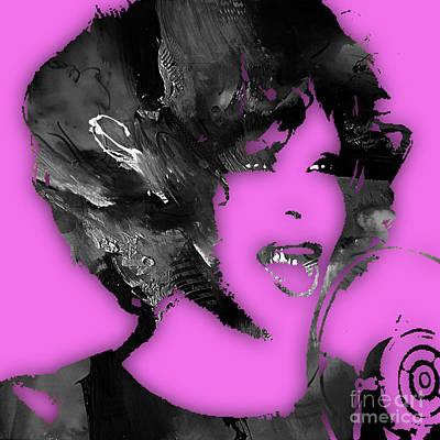 Whitney Houston Collection Art Print