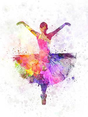 Woman Ballerina Ballet Dancer Dancing Art Print