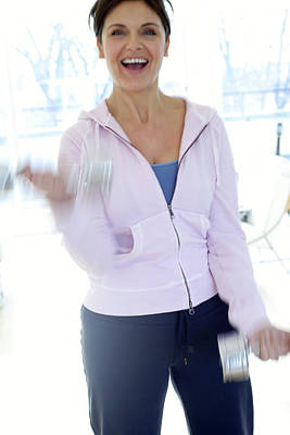 Woman Exercising Art Print by Ian Hooton/science Photo Library
