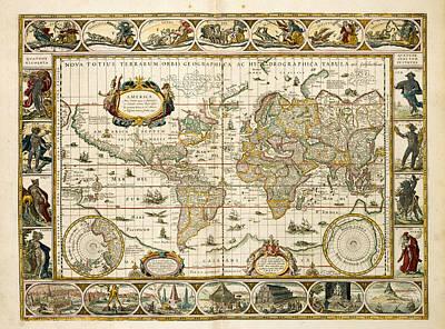 World Map Art Print by British Library