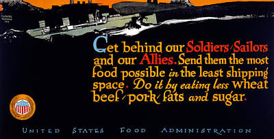 American Food Painting - Wwi Food Supply, 1917 by Granger