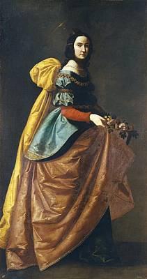 Worship Necklace Photograph - Zurbaran, Francisco De 1598-1664. Saint by Everett