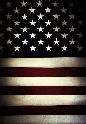 American Flag Art Print by Les Cunliffe