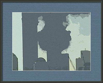 Mixed Media - Cutout Tempera Impressions From Tuesday Morning In September by Kosior