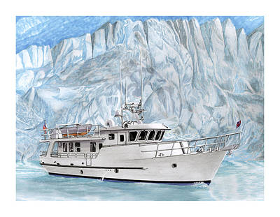 Note Card Painting - World Cruising 65 Foot Yacht by Jack Pumphrey