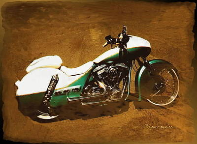 Photograph - '90 Harley Davidson F X R 'old Buick' Bike  by Sadie Reneau