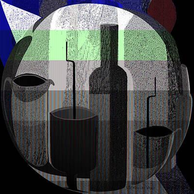 Digital Art - 902 - Still Life Dark by Irmgard Schoendorf Welch