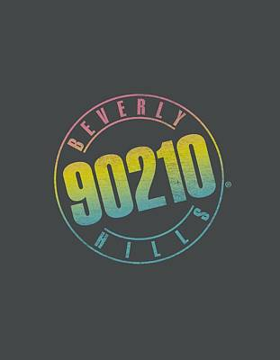 Beverly Hills Digital Art - 90210 - Color Blend Logo by Brand A