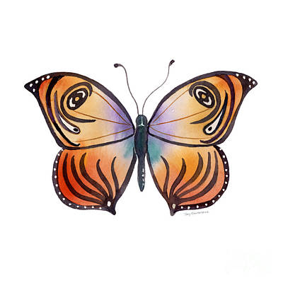 91 Orange Capanea Butterfly Art Print by Amy Kirkpatrick