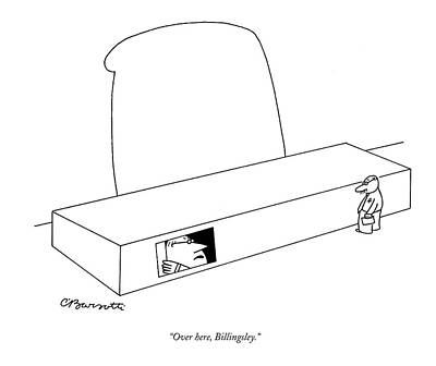 Hiding Drawing - Over Here, Billingsley by Charles Barsotti
