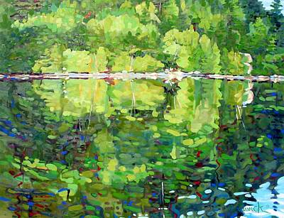 2001 Painting - 911-sherborne Lake by Phil Chadwick