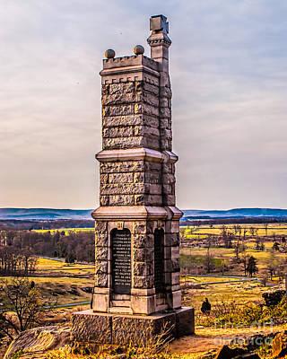 Monochrome Landscapes - 91st Pennsylvania Infantry Monument by Nick Zelinsky Jr