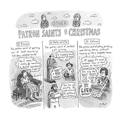 Drawing - New Yorker December 11th, 2006 by Roz Chast