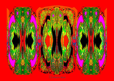 Digital Art - 922 - A Psychedelic View ... by Irmgard Schoendorf Welch