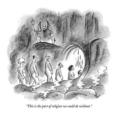 Belief Drawing - This Is The Part Of Religion We Could Do Without by Frank Cotham