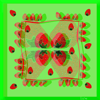 Painting - 930 - Strawberry Dessert by Irmgard Schoendorf Welch