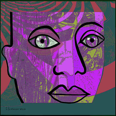 Digital Art - 933 - Face 1 by Irmgard Schoendorf Welch