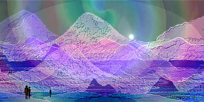 Painting - 939 - Magic Mood  Mountain World by Irmgard Schoendorf Welch
