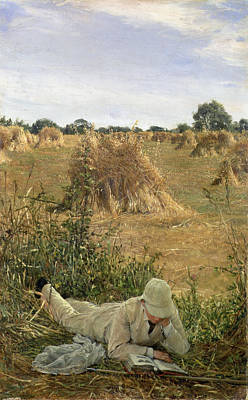 94 Degrees In The Shade, 1876 Art Print by Sir Lawrence Alma-Tadema