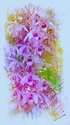 Painting - Purple Orchids by Xueyin Chen