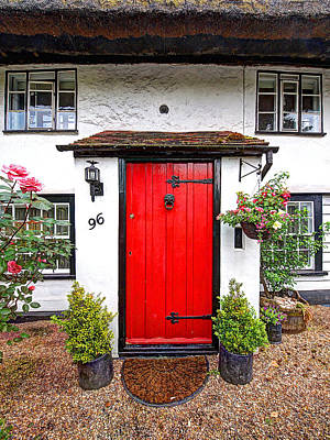96 Red - Cottage Door Print by Gill Billington
