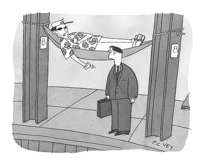 Beggars Drawing - Caption Contest by Peter C. Vey