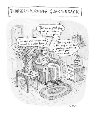 Incompetent Drawing - Thursday-morning Quarterback by Roz Chast