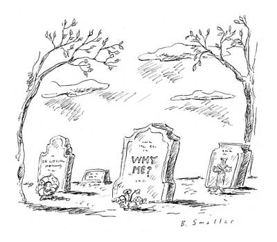 Cemetery Drawing - Untitled by Barbara Smaller