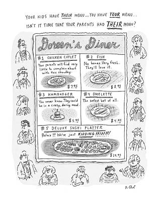 Box Drawing - Doreen's Diner by Roz Chast