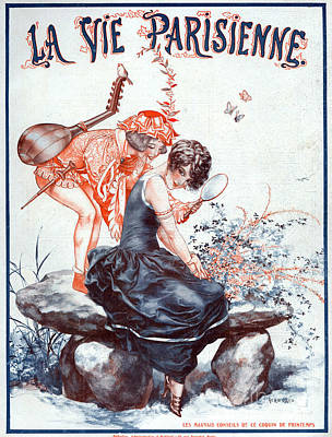 Music Drawing - 1920s France La Vie Parisienne Magazine by The Advertising Archives