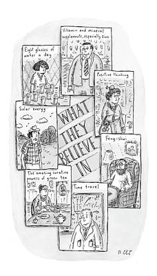 Sudoku Drawing - What They Believe by Roz Chast