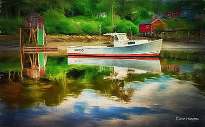 Digital Art - 9873055  New Harbor Me by Dave Higgins