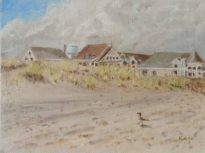 Seagrass Painting - 98th Street Beach Stone Harbor New Jersey by Patty Kay Hall