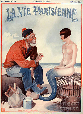 Extinct And Mythical Drawing - 1920s France La Vie Parisienne Magazine by The Advertising Archives
