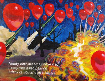 99 Red Balloons Art Print