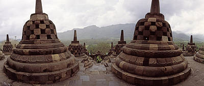 Ancient Civilization Photograph - 9th Century Buddhist Temple Borobudur by Panoramic Images