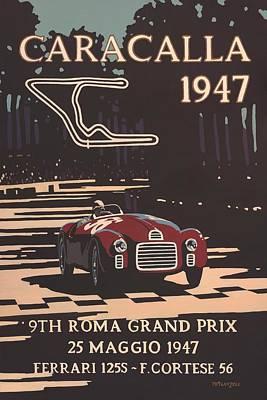 9th Roma Grand Prix 1947 Art Print by Georgia Fowler