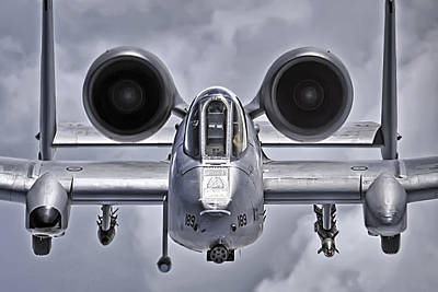Gun Fighter Photograph - A-10 Thunderbolt II by Adam Romanowicz