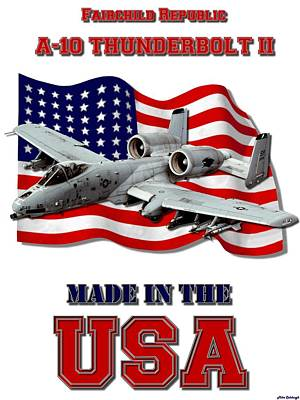 Made In The Usa Digital Art - A-10 Thunderbolt Made In The Usa by Mil Merchant