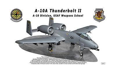 Litho Digital Art - A-10a Thunderbolt II On Parking Ramp by Bob Tyler