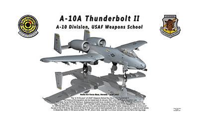 Litho Digital Art - A-10a Thunderbolt II With Reflection by Bob Tyler