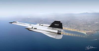 Aircraft Poster Photograph - A-12 Blackbird by Larry McManus